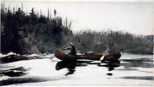 Guides Shooting Rapids, 1895 by Winslow Homer