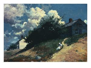 Houses on a Hill, 1879 by Winslow Homer