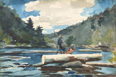 Hudson River' - Logging, 1892 by Winslow Homer