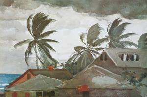 Hurricane, Bahamas, c.1898 by Winslow Homer