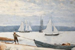 Pulling the Dory, 1880 by Winslow Homer