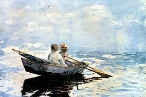 Rowing the Boat, 1880 by Winslow Homer