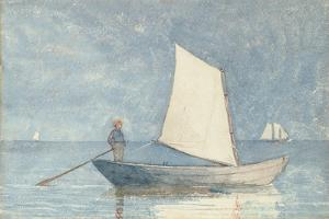 Sailing a Dory, 1880 by Winslow Homer