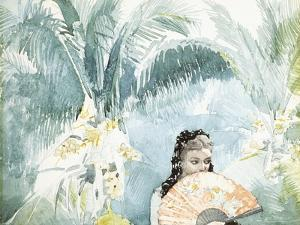 Spanish Girl with Fan, 1885 by Winslow Homer