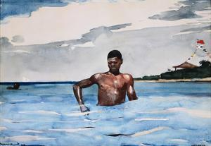 The Bather by Winslow Homer