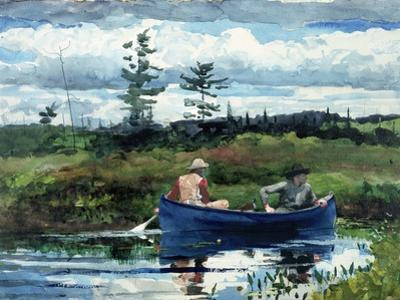 The Blue Boat by Winslow Homer