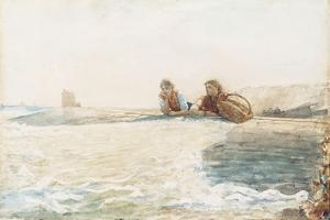 The Breakwater, 1883 by Winslow Homer