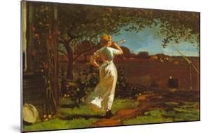 The Dinner Horn by Winslow Homer