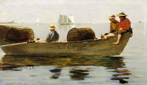 Three Boys in a Dory, 1873 by Winslow Homer