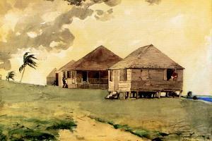 Upcoming Tornado, Bahamas, 1885 by Winslow Homer