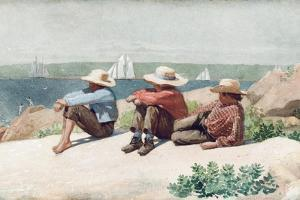 Watching the Ships, Gloucester, 1875 by Winslow Homer