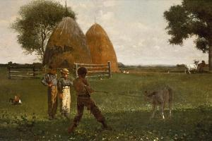 Weaning the Calf, 1875 by Winslow Homer