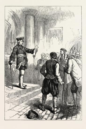 Winslow Reading the Royal Proclamation, USA, 1870s--Giclee Print