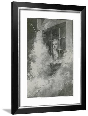 Winstanley Looks Out at the Storm--Framed Giclee Print
