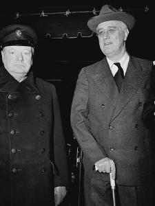 Winston Churchill and Franklin D Roosevelt