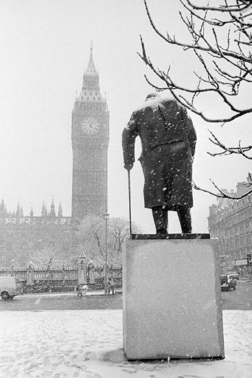 Winston Churchill by Ivor Roberts-Jones--Photographic Print