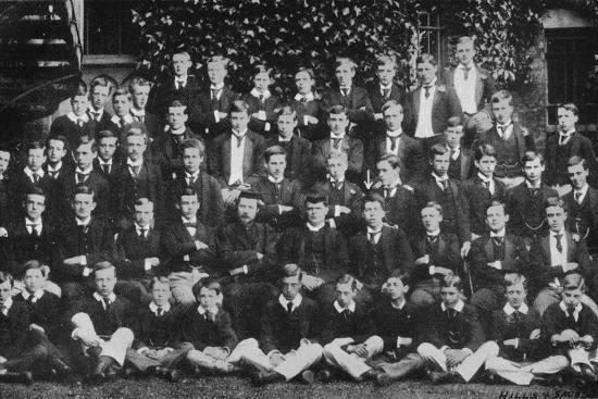 Winston Churchill in a group photograph at Harrow School, c1889, (1945)-Unknown-Photographic Print