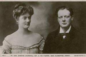 Winston Churchill Mp and His Fiancee Clementine Hozier