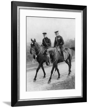 Winston Churchill Resigns His Parliamentary Seat to Return to the Army--Framed Photographic Print