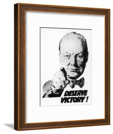Winston Churchill Says We Deserve Victory!