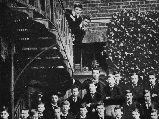 'Winston climbing a staircase, while the class pose', c1889, (1945)-Unknown-Photographic Print