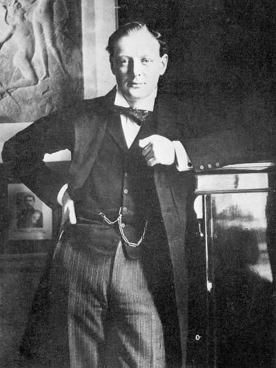 Winston Spencer Churchill in 1904-English Photographer-Giclee Print