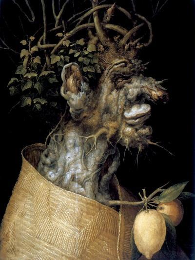 Winter, 1563-Giuseppe Arcimboldi-Giclee Print