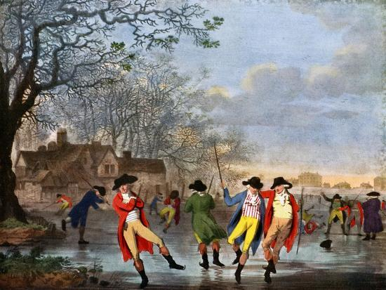 Winter Amusement: a View in Hyde Park from the Moated House, Late 18th Century- Tookey-Giclee Print