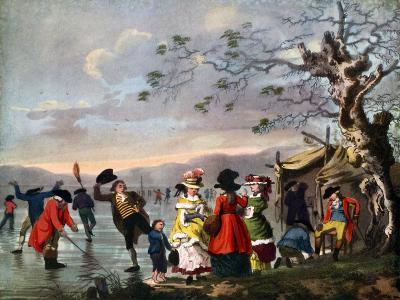 Winter Amusement: a View in Hyde Park from the Sluice at the East End, Late 18th Century- Tookey-Giclee Print