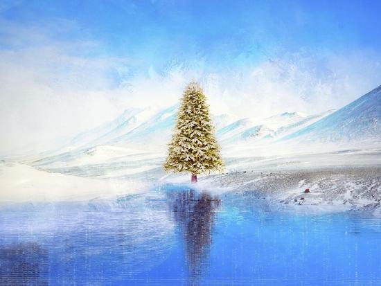 Winter And Christmas Tree-Ata Alishahi-Giclee Print