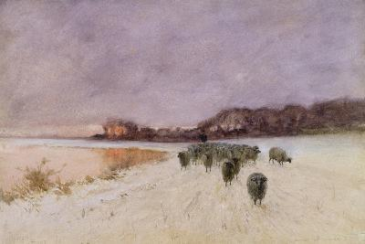 Winter at Loch Ard-Sir Alfred East-Giclee Print