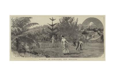 Winter at Taranaki, New Zealand--Giclee Print