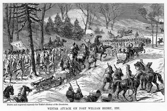 Winter Attack on Fort William Henry, New York State, 1757--Giclee Print