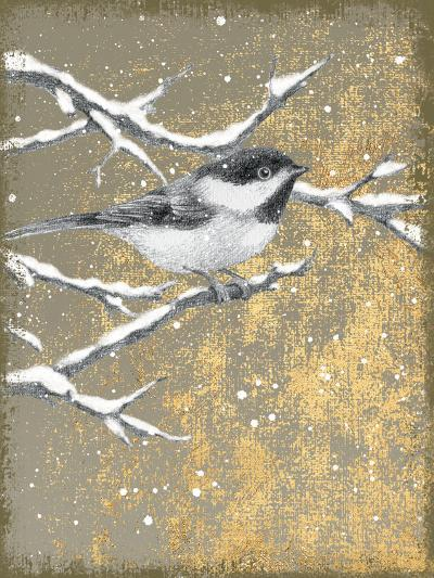 Winter Birds Chicadee Neutral-Beth Grove-Art Print