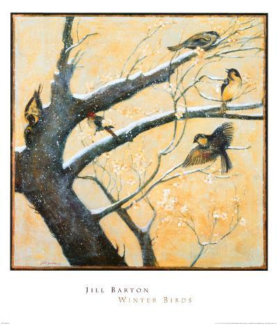 Winter Birds-Jill Barton-Art Print