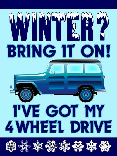 Winter Bring it 4WD-Mark Frost-Giclee Print