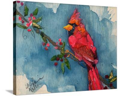 Winter Cardinal--Stretched Canvas Print