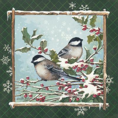 Winter Chickadees-Anita Phillips-Art Print