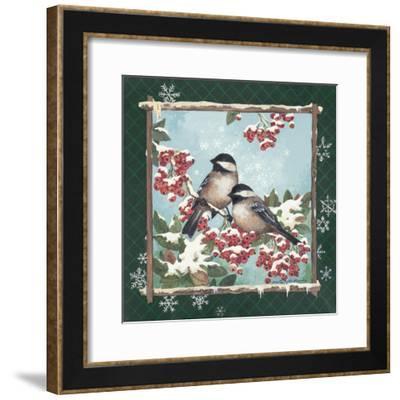 Winter Chickadees-Anita Phillips-Framed Premium Giclee Print