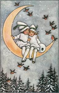 Winter, Children on Moon