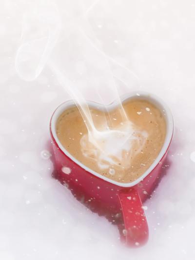 Winter Christmas Love Mug-Grab My Art-Art Print