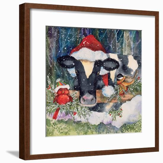 Winter Cow-Kathleen Parr McKenna-Framed Art Print