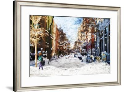 Winter Day in NYC II - In the Style of Oil Painting-Philippe Hugonnard-Framed Giclee Print