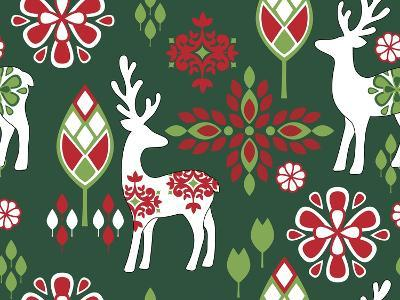 Winter Deer-Joanne Paynter Design-Giclee Print