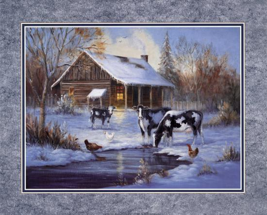 Winter Farm-M^ Caroselli-Art Print