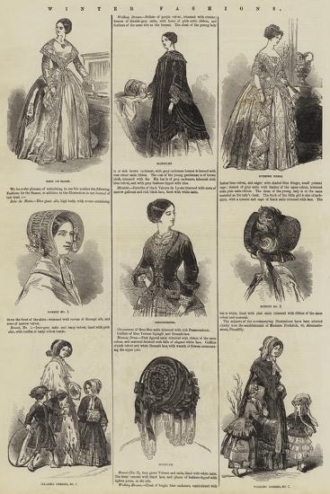 Winter Fashions--Giclee Print