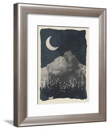 Winter Finds The Wolf-NDTank-Framed Art Print