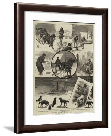 Winter Fishing in Manitoba, Canada--Framed Giclee Print