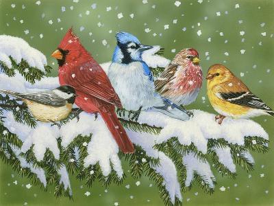 Winter Friends-William Vanderdasson-Giclee Print