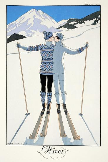 Winter, from 'Falbalas and Fanfreluches, Almanach des Modes Pr?sentes, Pass?es et Futures', 1926-Georges Barbier-Giclee Print